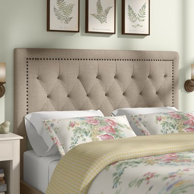 Djibril Square Upholstered Panel Headboard Size: California King, Upholstery: Oatmeal