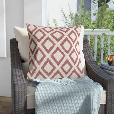 Redbud Outdoor Throw Pillow Size: 18 H x 18 W x 0.5 D, Color: Red
