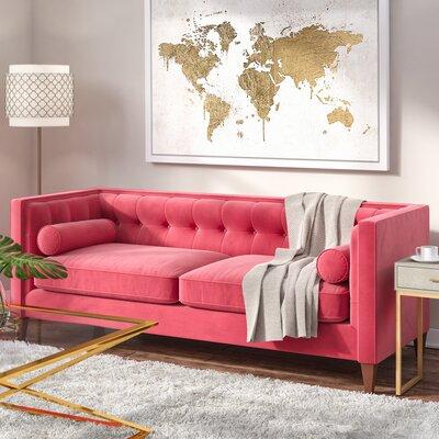 Derrill Sofa Upholstery: Garnet Rose