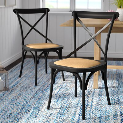 Canfield Solid Wood Dining Chair Color: Antique Black