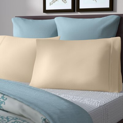 Akridge 300 Thread Count Cotton Pillowcase Size: Standard, Color: Ivory