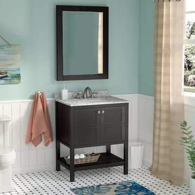 Caldwell 30 Single Bathroom Vanity Set with Mirror Base Finish: Espresso