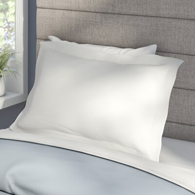Tailored Sham Size: Standard, Color: White