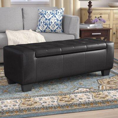 Pellegrin Storage Ottoman Upholstery: Black