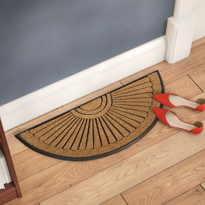 Alston Inlaid Sunray Doormat Mat Size: Semi-Circle 16 x 26