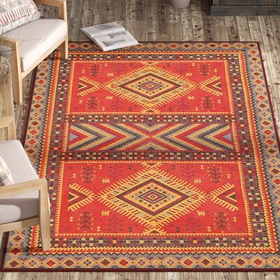 Herblain Red Indoor Area Rug Rug Size: Rectangle 5 x 8