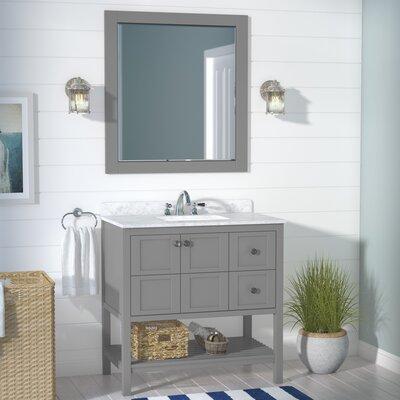 Caldwell 36 Single Bathroom Vanity Set with Mirror Base Finish: Grey