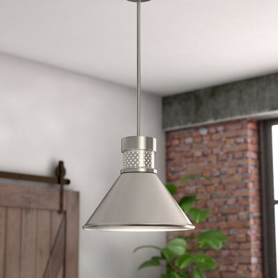 Irwin 1-Light LED Inverted Pendant Finish: Brushed Nickel/White
