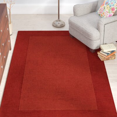 Bradley Hand Woven Terra Cotta Area Rug Rug Size: Rectangle 5 x 8