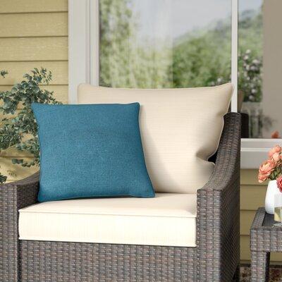 Thorson Modern Outdoor Throw Pillow Color: Teal