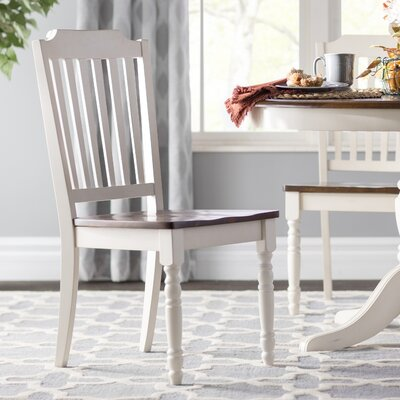 Westlund Solid Wood Dining Chair Finish: Antique White/Cherry