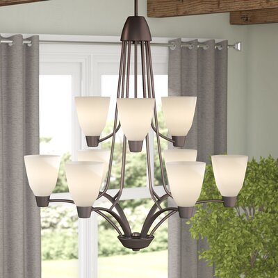 Goodhue 9-Light Shaded Chandelier Finish: Antique Bronze
