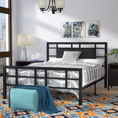 Bruce Upholstered Platform Bed Size: Queen, Color: Black