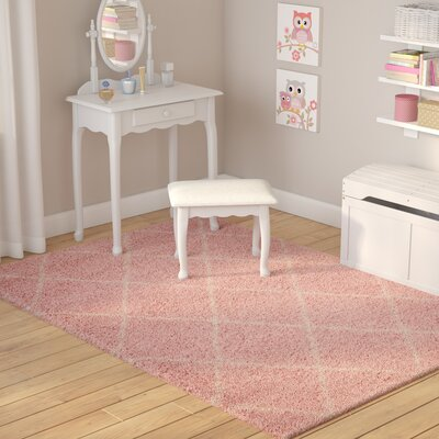 Puyallup River Blush Area Rug Rug Size: Rectangle 82 X 10
