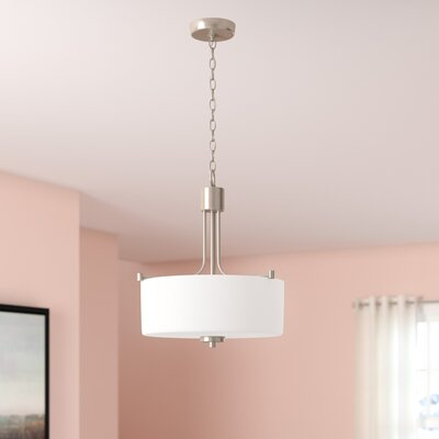 Rosalin 3-Light Drum Pendant Finish: Brushed Polished Nickel