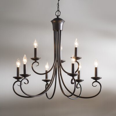 Calafia 9-Light Candle-Style Chandelier Finish: Oil Rubbed Bronze