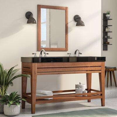 Madalyn 60 Double Bathroom Vanity Set Base Finish: Sedona