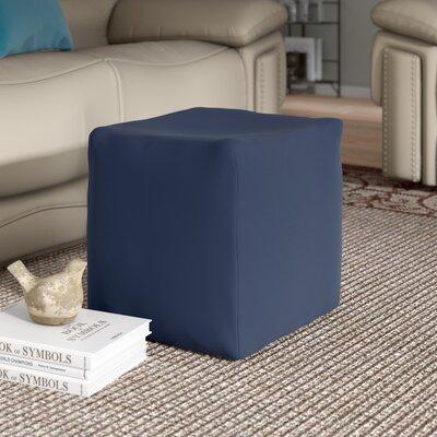 Camelot Cube Pouf Ottoman Upholstery: Navy