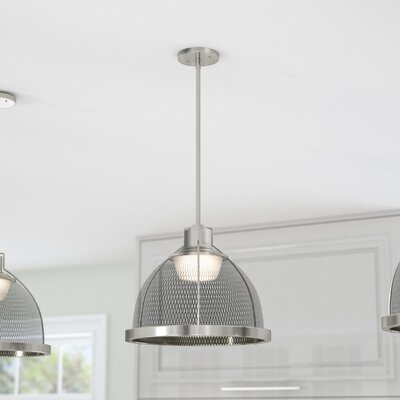 Helene 1-Light LED Inverted Pendant Finish: Brushed Nickel/Black