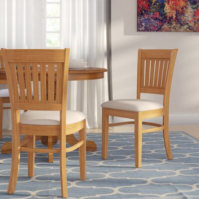 Corcoran Microfiber Soft Padded Dining Side Chair Finish: Oak
