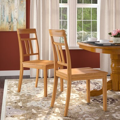 Chancey Solid Wood Dining Chair Finish: Oak