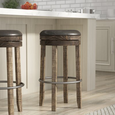 Arianna 30 Swivel Bar Stool Finish: Tobacco Leaf