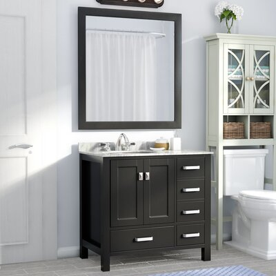 Deanne 36 Single Bathroom Vanity Set With Mirror Base Finish: Espresso