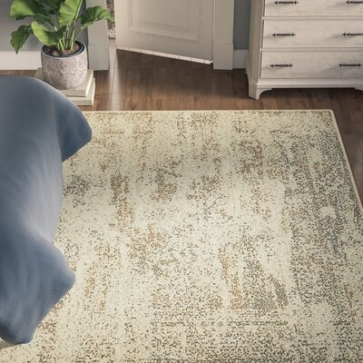Forcalquier Abstract Cream Area Rug Rug Size: Runner 2 x 6