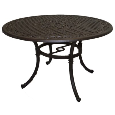 Sasha 54 Round Dining Table with Dominic Base