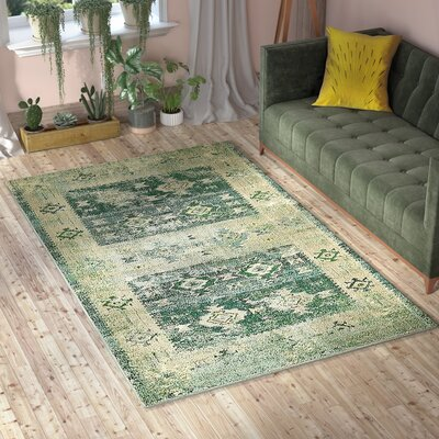 Gloucester Green Area Rug Rug Size: Rectangle 8' x 10'
