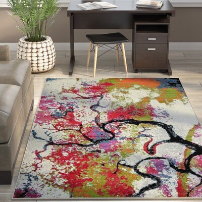 Chumbley Green/Red Area Rug Rug Size: 5' x 8'