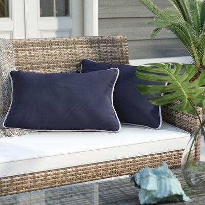 Ariah Indoor/Outdoor Sunbrella Piped Lumbar Pillow Size: 13 H x 20 W