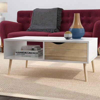 Mateer Coffee Table Color: White/Oak