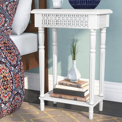 Celie Wooden End Table Color: White