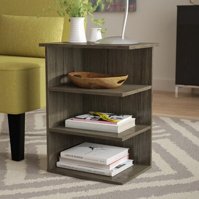 Gale Magazine Chairside Table Color: Rustic Gray