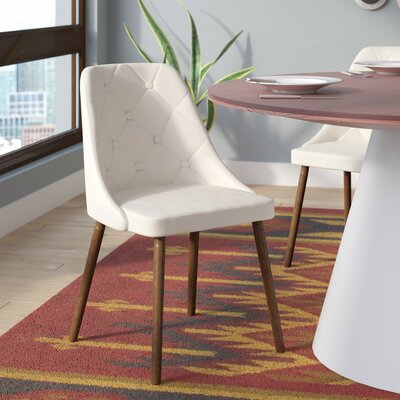 Baize Upholstered Side Chair Upholstery: Cream