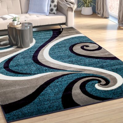 Rick Blue Area Rug Rug Size: Rectangle 410 x 72
