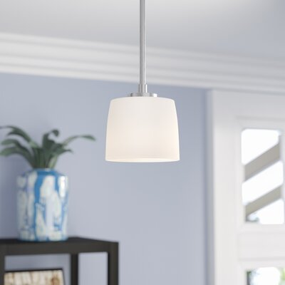 Rosalin 1-Light Mini Pendant Base Finish: Brushed Polished Nickel