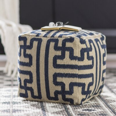 Copeland Pouf Upholstery: Olive/Charcoal
