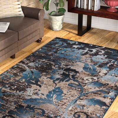 Aresford Blue Area Rug Rug Size: Rectangle 9 x 12