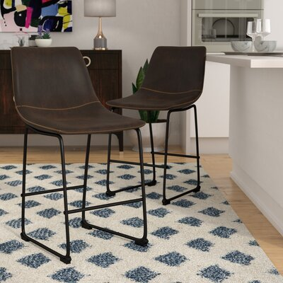 Amendola 25.5 Bar Stool Upholstery: Espresso