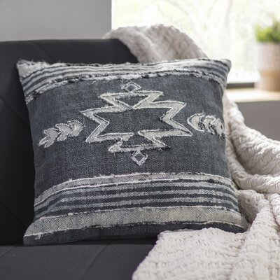 Barrera 100% Cotton Throw Pillow Color: Charcoal, Fill Material: Poly Fill
