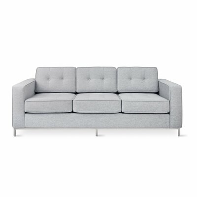 Jane Sofa Body Fabric: Light Gray, Leg Finish: Stainless