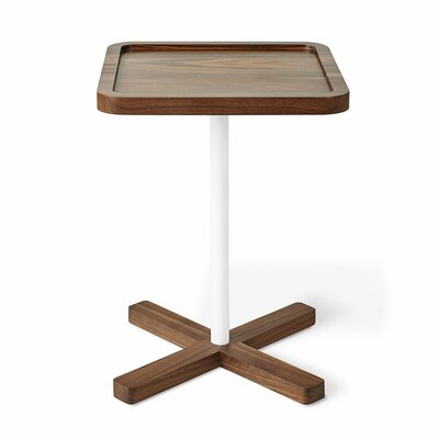 Axis Brown End Table Color: Walnut