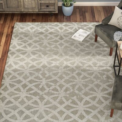 Vasques Gray Area Rug Rug Size: 8 x 10