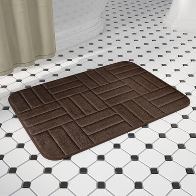 Beasley Parquete Bath Mat Size: 24 x 17, Color: Chocolate