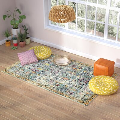 Gloucester Blue Area Rug Rug Size: Rectangle 2 x 3