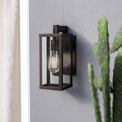 Stupendous Mercury Row Pratt 1 Light Outdoor Wall Lantern Creativecarmelina Interior Chair Design Creativecarmelinacom