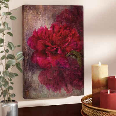 'Tapestry Rose' Painting Print on Wrapped Canvas Size: 18