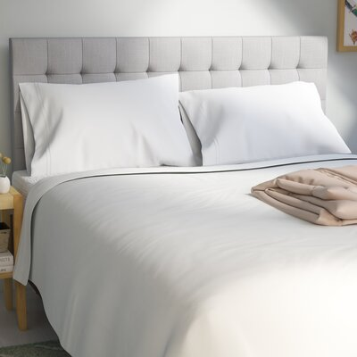 Patric 1500 Thread Count 100% Egyptian-Quality Cotton Sheet Set Size: Full, Color: White